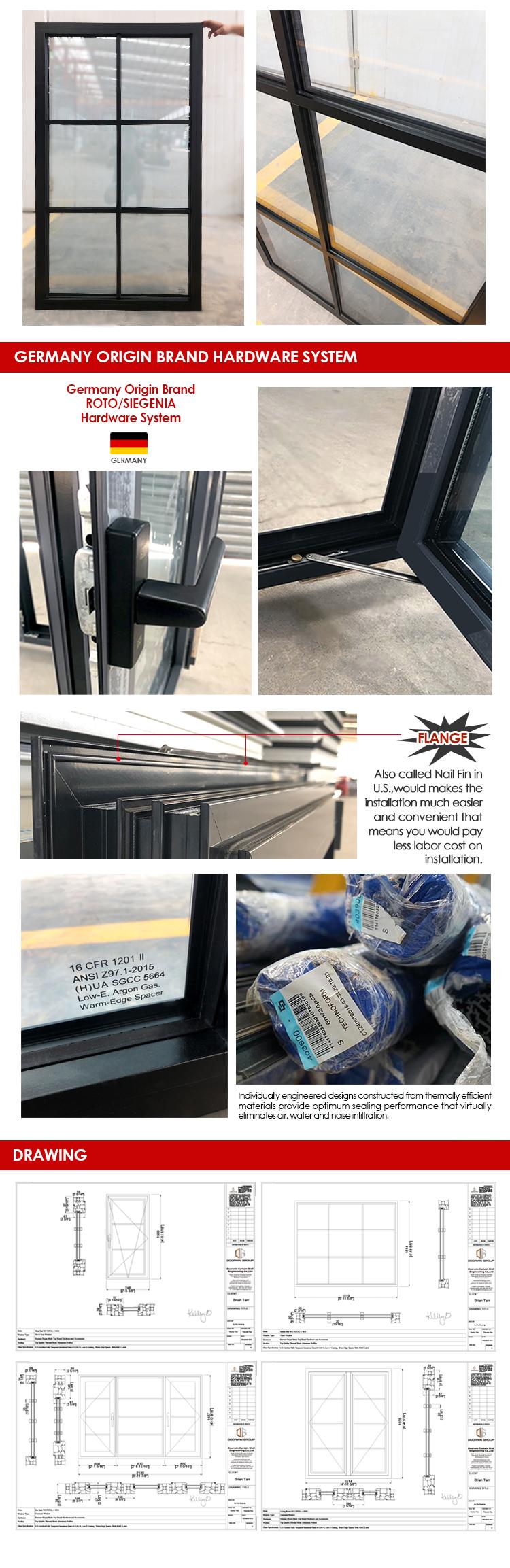 2020 Fashion IGCC certified glass hot selling double galzing windows tilt-turn window tilt&turn