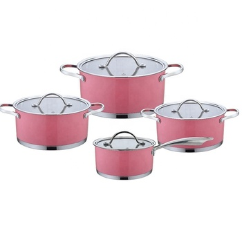 Trustworthy china supplier Kitchen Accessories Stainless Steel Cookware Set Cooking Pot Stock Pot Set