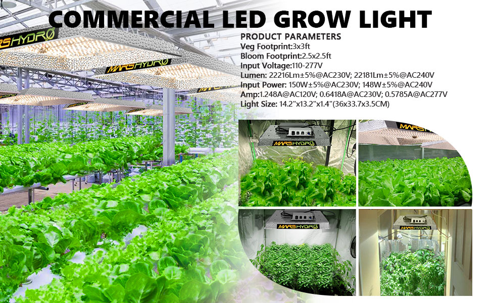 MarsHydro 450W veg/bloom switch led grow light Replace HPS HID grow lamp
