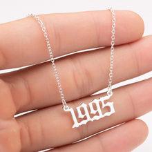 Женское ожерелье с буквенным принтом, из нержавеющей стали(Китай)