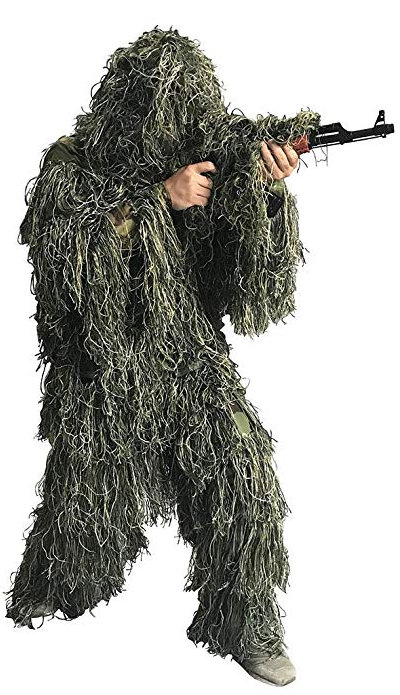 Bonnie Forest warp Ghillie Suit Woodland Camouflage Suit Hunting Suit sneaky asker ghillie satilik uflage clothing camo costume