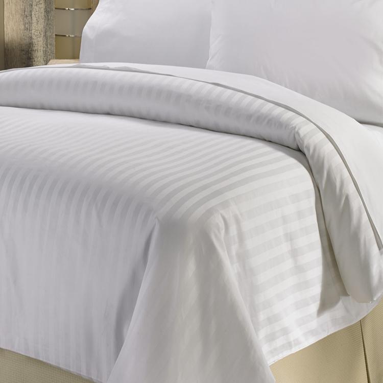 Linen Galaxy Drap plat en coton /égyptien satin/é de luxe 400 fils Blanc satin/é Pour lit king size Qualit/é h/ôteli/ère