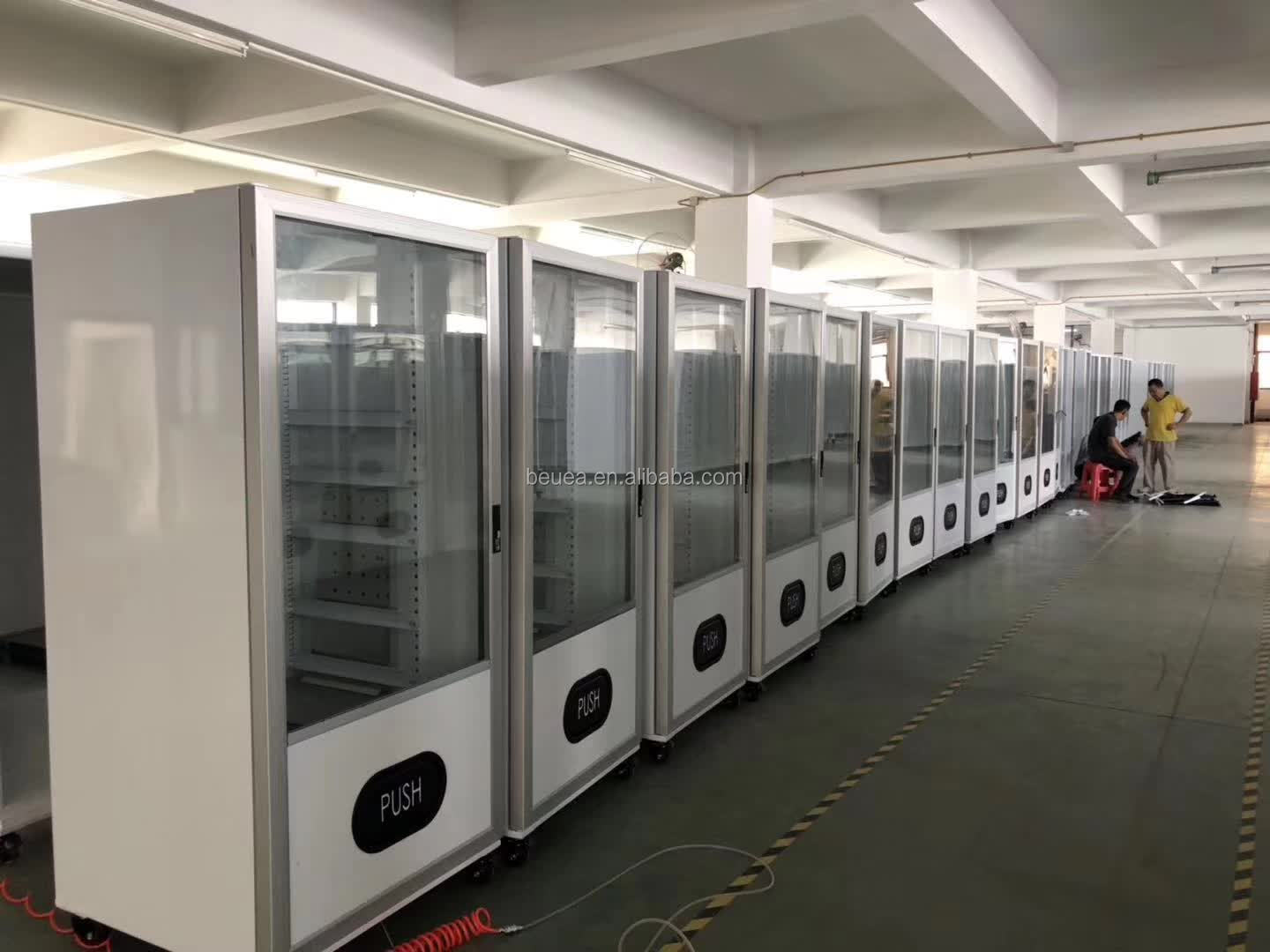 Vending Machine OEM ODM Customized  Cabinet & Cooling System & Glass Door Any Size Any Design