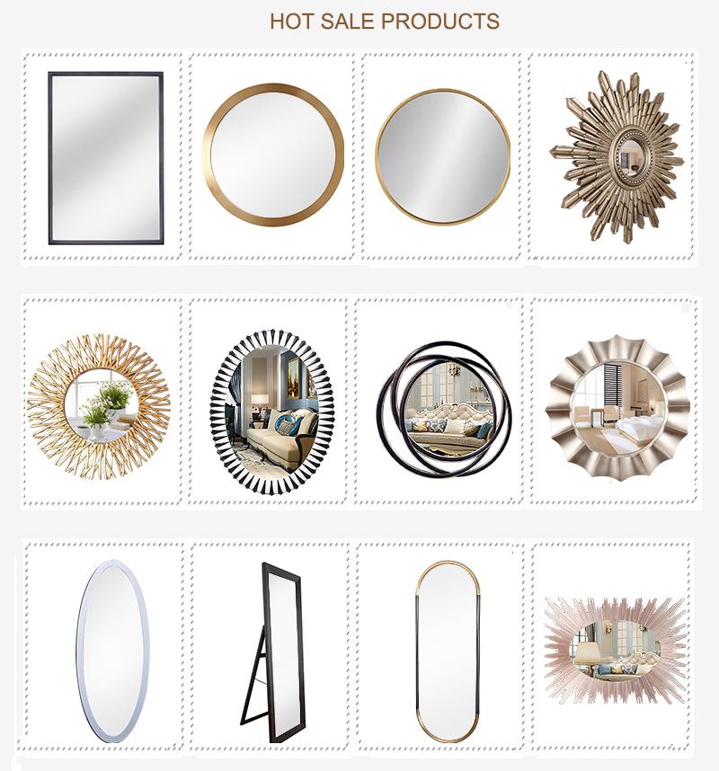 2020 venda quente novo estilo barroco espelho emoldurado na parede de poliuretano