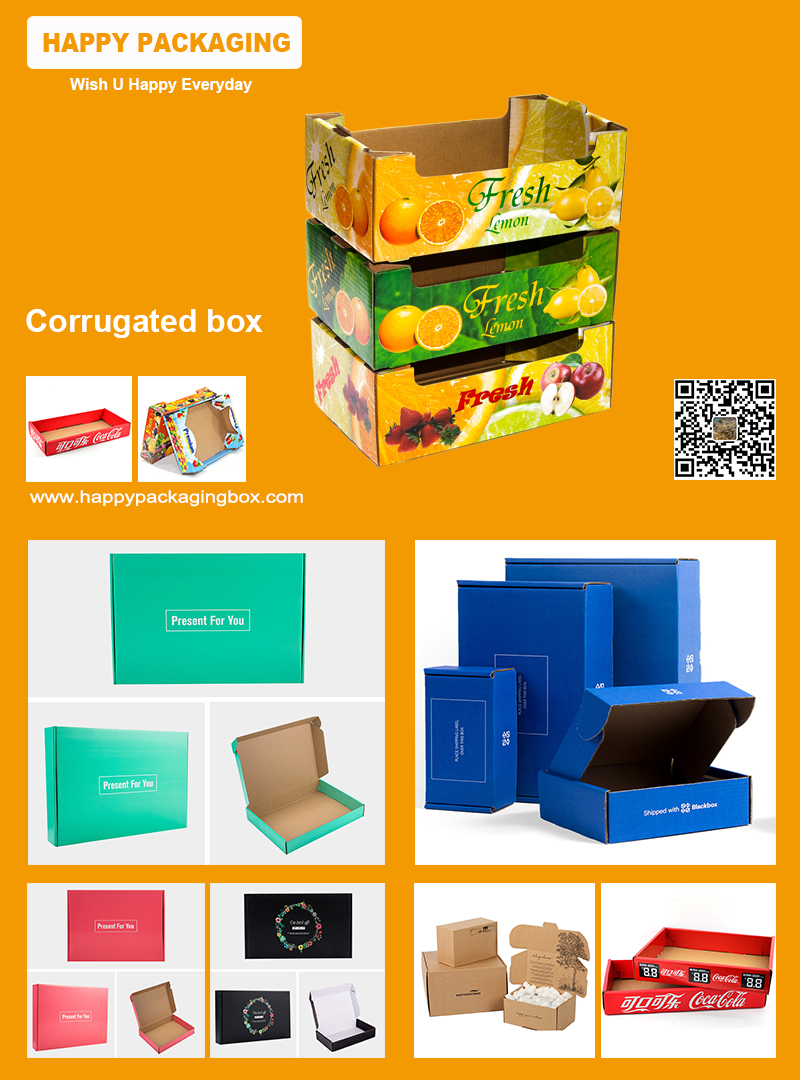 China Factory Removeable lid corrugated gift paper box handle snacks gift corrugated box
