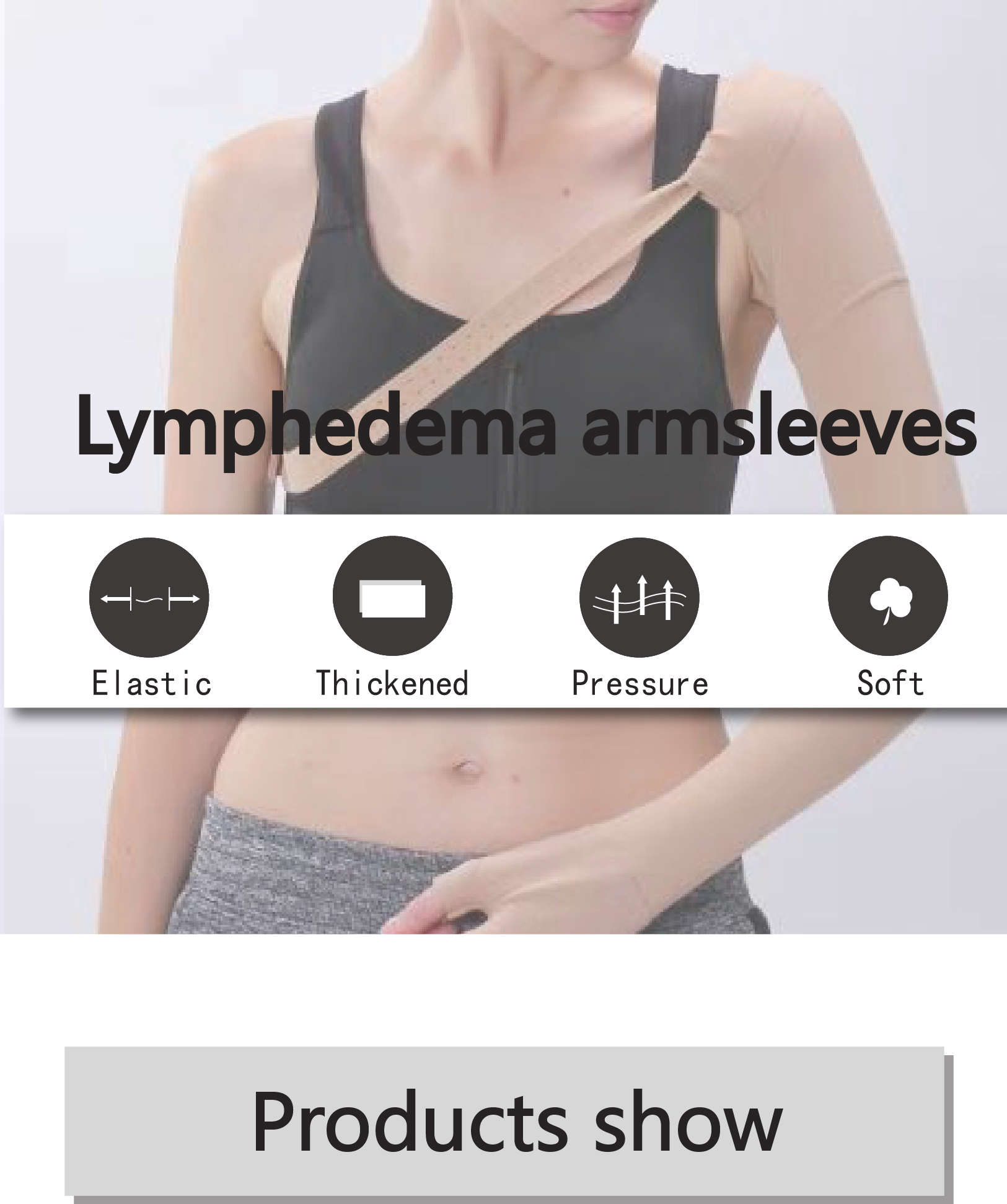 post mastectomy compression arm sleeve lymphedema support with glove
