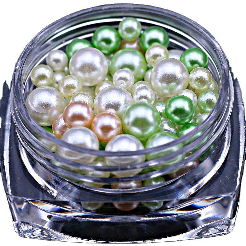 Full beaut Nail pearl set 12colors Nail Acrylic Pearls for Nail Art Rhinestone Decorations