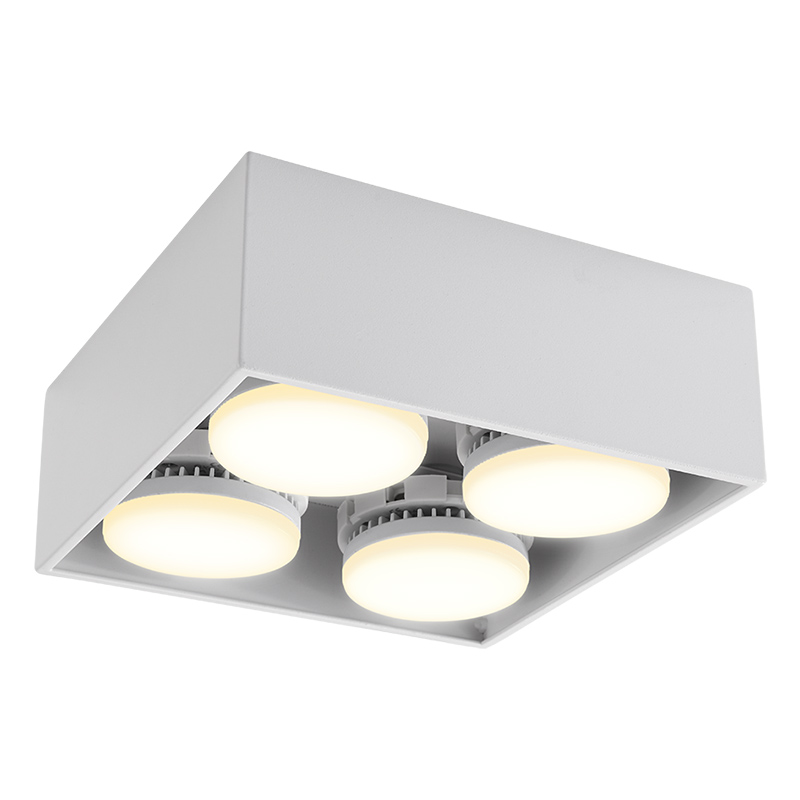 Aisilan blanco Simple 7W cocina baño dormitorio pasillo Spot luz COB superficie montada LED Downlight