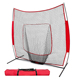 7X7 ' Baseball and Softball Practice Net Hitting net Knotted Sports Netting with Frame
