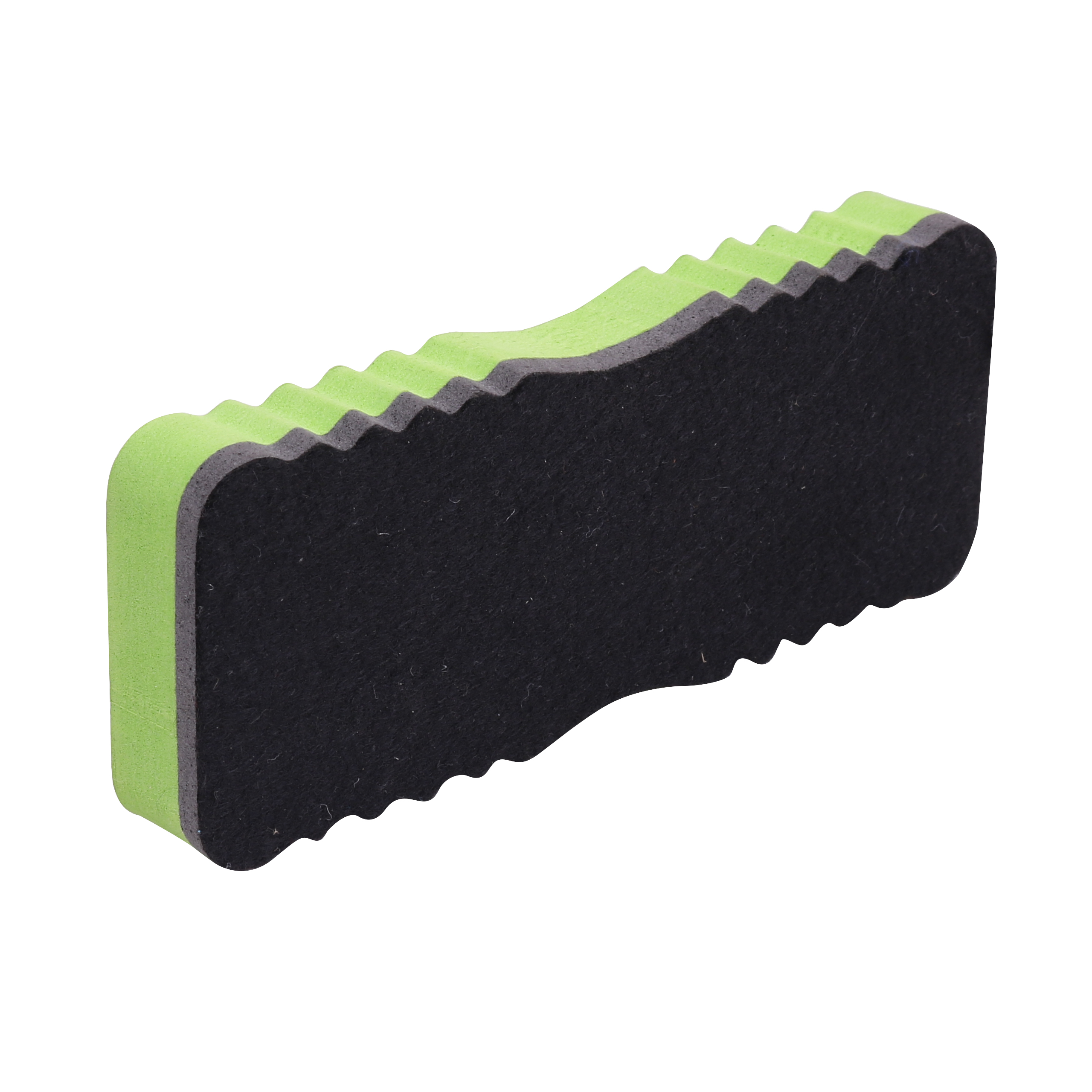 wave shape strong magnetic dry EVA color solid retangular marker board eraser