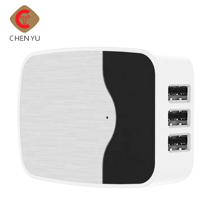 US/EU/UK Standard 3.4A 3 ports USB wall charger for mobile phone