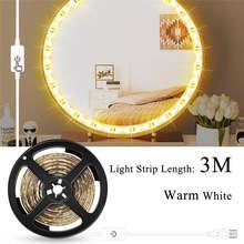 CanLing 5 м светодиодный косметический зеркальный светильник 5 в голливудский косметический туалетный светильник s USB настенный светильник с ре...(Китай)