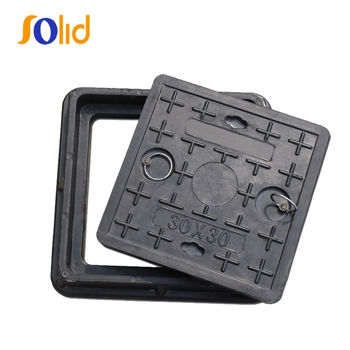 En124 C250 Ductile Iron Square Sewer Manhole Cover with Lock (C/O600)