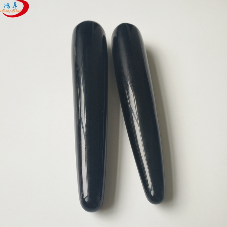 Factory price obsidian yoni wand massager massage stone quartz crystal wands