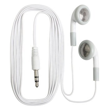 White Disposable Earphones Cheapest Mobile Headsfree Earphone For Bus or Plane Train for School Gift One time Use