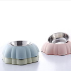 Hot Sale Dishes-Dual Use Stainless Steel PP Food and Water Dog Cat Bowl Pet Feeding Bowl Stand