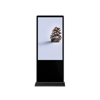 With Tempered Glass Timing Off Floor Standing Monitor Lcd Digital Signage Board Advertisement Integrated Interactive Machine