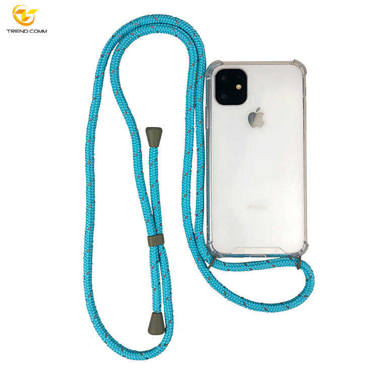 Necklace Shockproof Transparent Phone Strap  Case For Iphone 11/11 Pro/11 Pro Max Cross Body