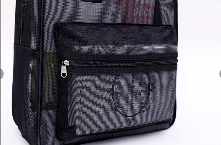 Hottest Product Cheap Simple Girls Women Backpacks,Practical Mesh Beach Towel Backpack