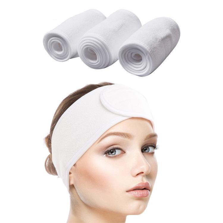 Spa yüz kafa bandı kafa şal havlu kumaş bandı streç havlu sihirli bant ile banyo için, makyaj ve spor