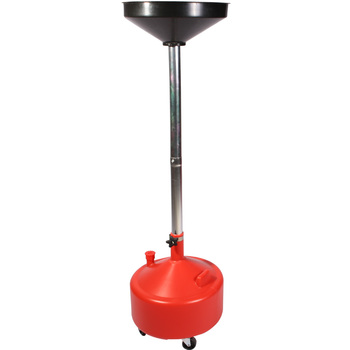 8 Gallon Adjustable Plastic Waste Oil Lift Drain with Casters
