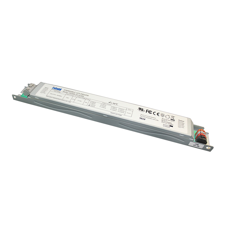 Flicker Free 55W Constant Current LED Driver Dimmable LED Driver for Linear LED Light Strip Light