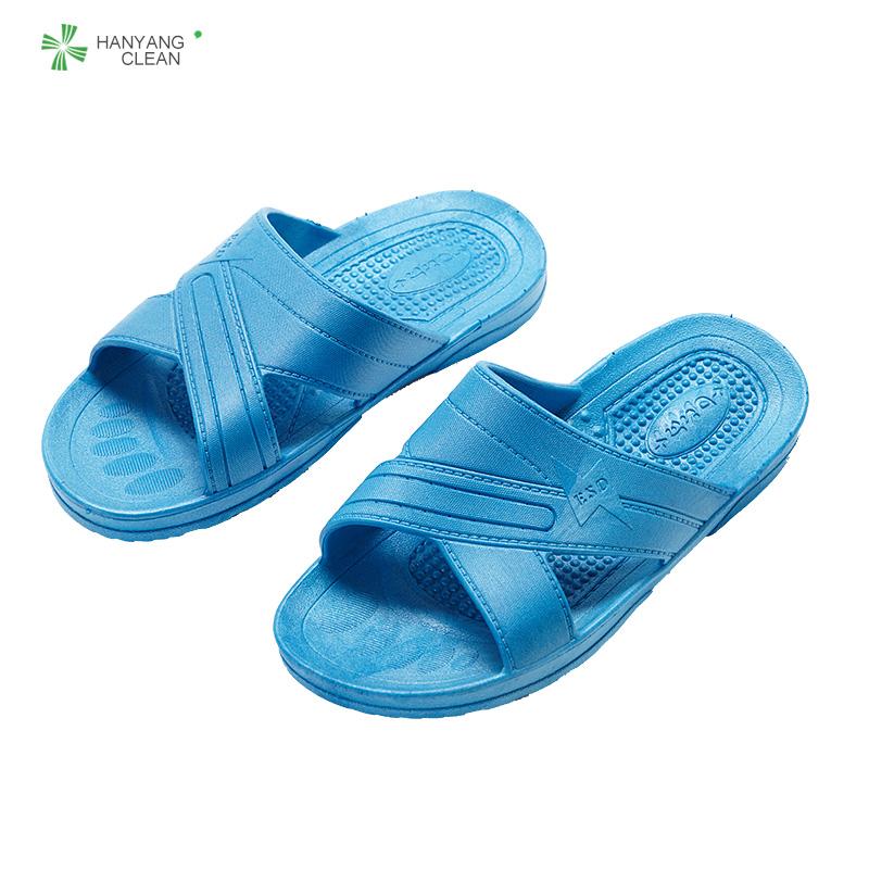 Ad China Anti Slip Blau SPU Reinraum Verkaufs antistatisch ESD Sicherheit Hausschuhe Sandalen frauen und männer gummi schuhe fabrik