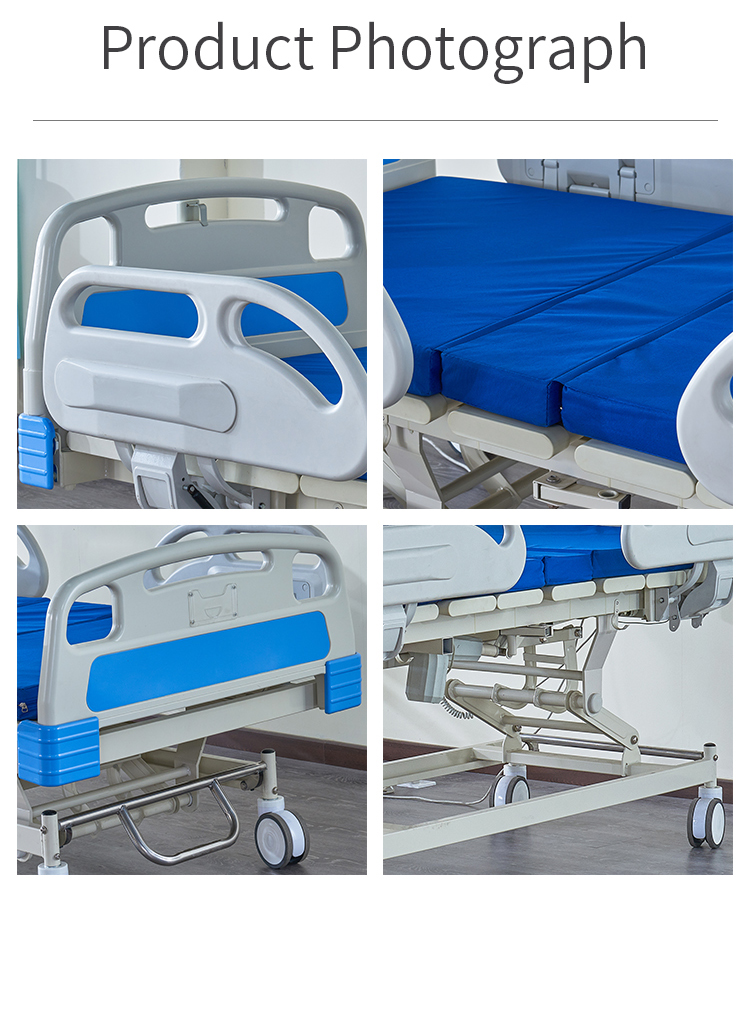 Dubai adjustable Equipments 3 functions Electric Medical Hospital Icu Bed