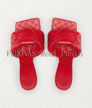 Женские туфли-лодочки FEDONAS, винтажные туфли на высоком каблуке с открытым носком на весну и лето 2020(Китай)