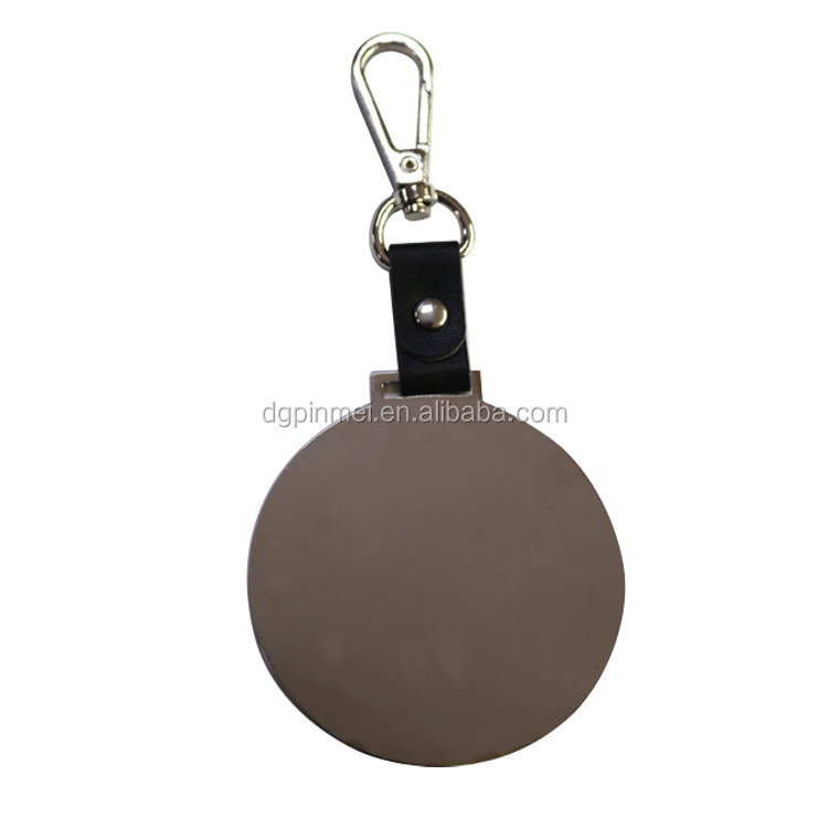 Factory Custom Embossed Logo Handbag Metal Tags Metal Golf Bag Tag/ Luggage Tag