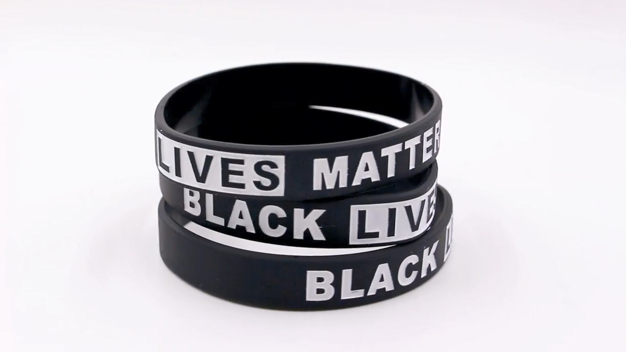 Custom I Cant Breathe Silicone Bracelet Wristband Black Lives Matter in China Customize Silicone Bracelet Wristband