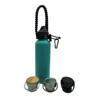 350ML-1000ML Stainless Steel Double Wall Vacuum Bottle With Paracord Handle for Travelling