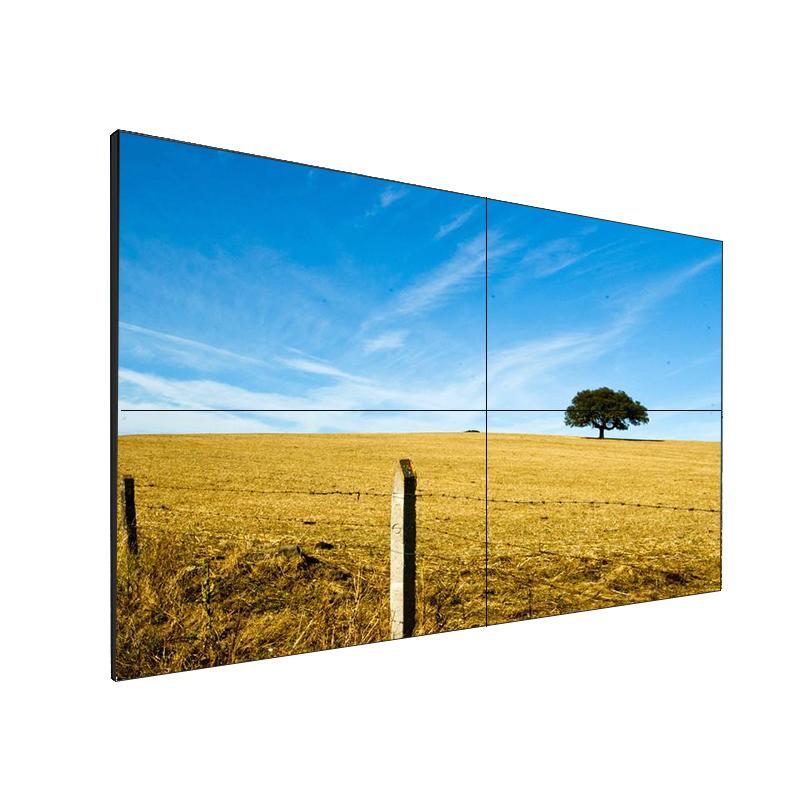 Parede de vídeo de tv lcd com moldura super estreita transparente de 55 polegadas