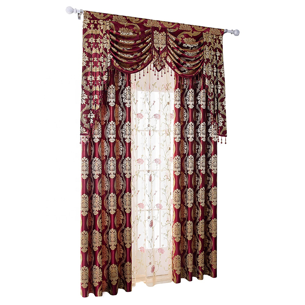 Luxury curtain,2 Pieces, 4 colors