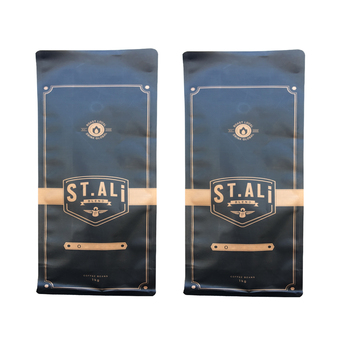 standup pouches flat bottom kraft paper bag coffee bags with beautiful printing aluminium foil for food packing