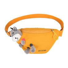 Холщовая поясная сумка для женщин, милая мультяшная коровья кукла, Классическая текстура, креативный дизайн, шикарная сумка для отдыха на г...(Китай)