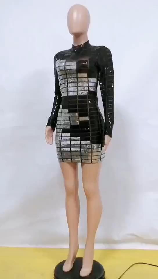 MBM Unlimited Dresses | Black Gold Geo Print Sequin