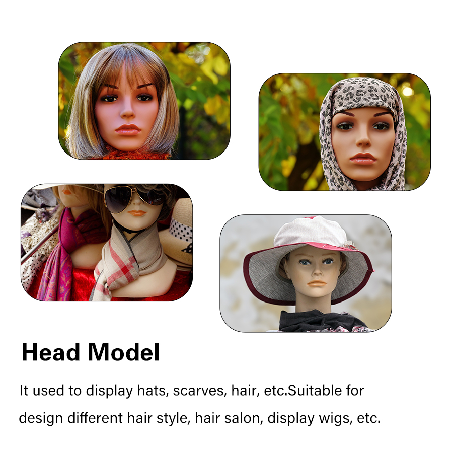 African American Female Half Body Mannequin Head With Shoulders For Wig Display