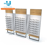 Custom Glasses Display Shelves with Mirror Tier Metal Frame Stand Eyeglasses Display Shelf