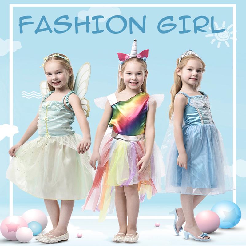 Popular Xuebao vestido Olaf niñas transfronteriza de los niños vestido de falda