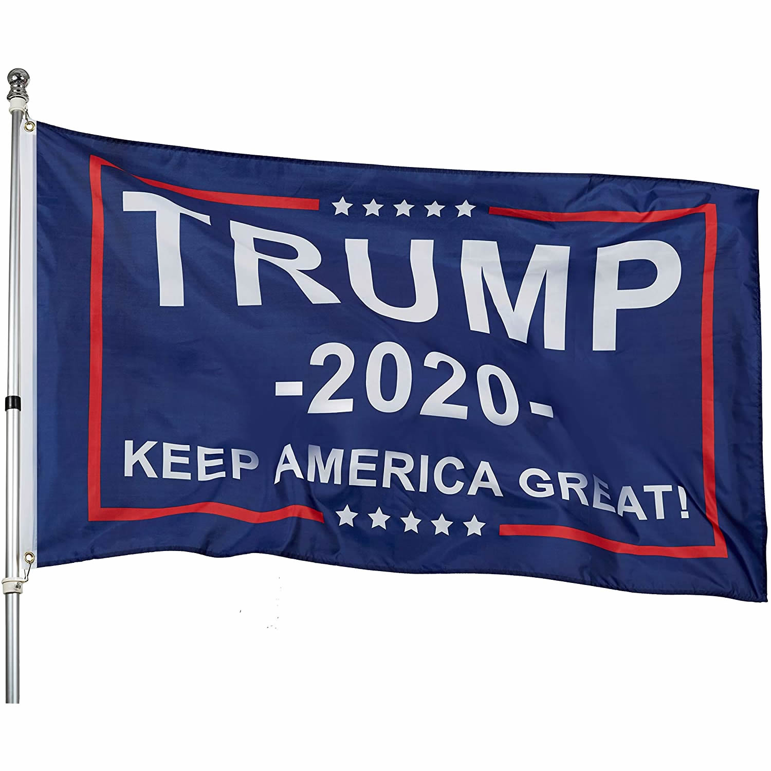 3x5 Feet Donald Trump <strong>Flag</strong> - Trump 2020 Keep America Great! - Make America Great Again - Indoors Outdoors Banner