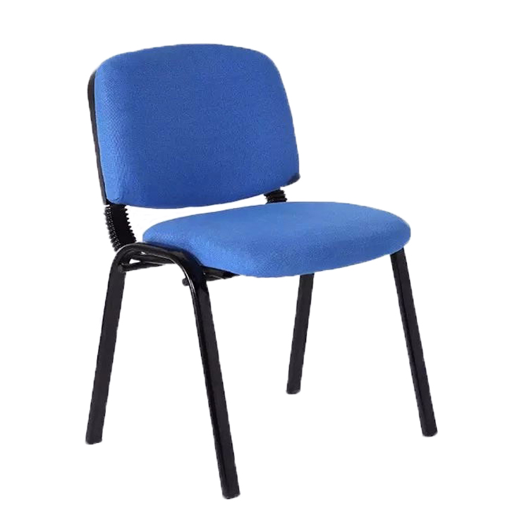 JOHOOFURNITURE Popular Sponge Cushion And Backrest Visitor Chair High Quality Black Painted Four Legs Student Chair