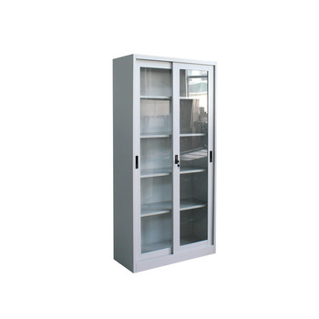 Office furniture customized sliding glass door file cabinet,2 door 5 layer vertical metal file cabinets