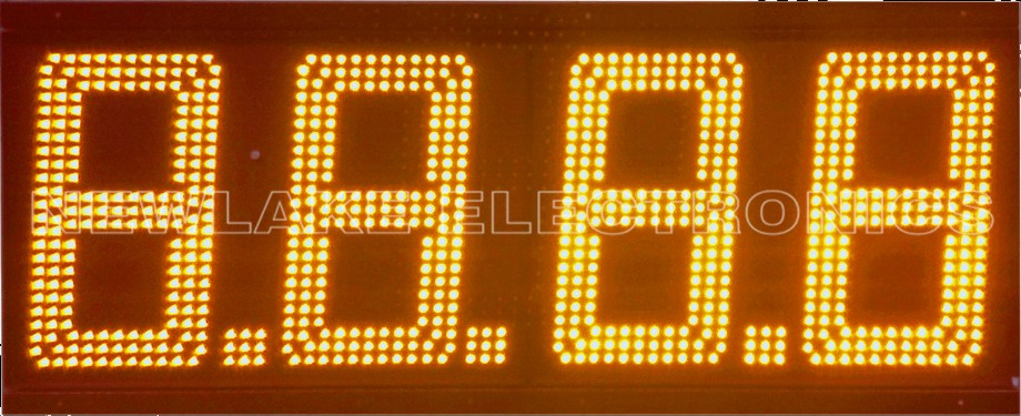 20 inch double sided led gas price sign 4 digit 7 segment led gas pump topper price signs 88.88