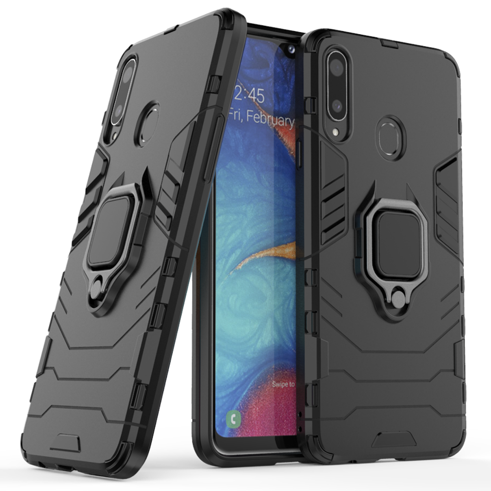 BearDada Finger Ring All-in-one Phone Case for Samsung Galaxy A90 5G Magnetic Car bracket cover