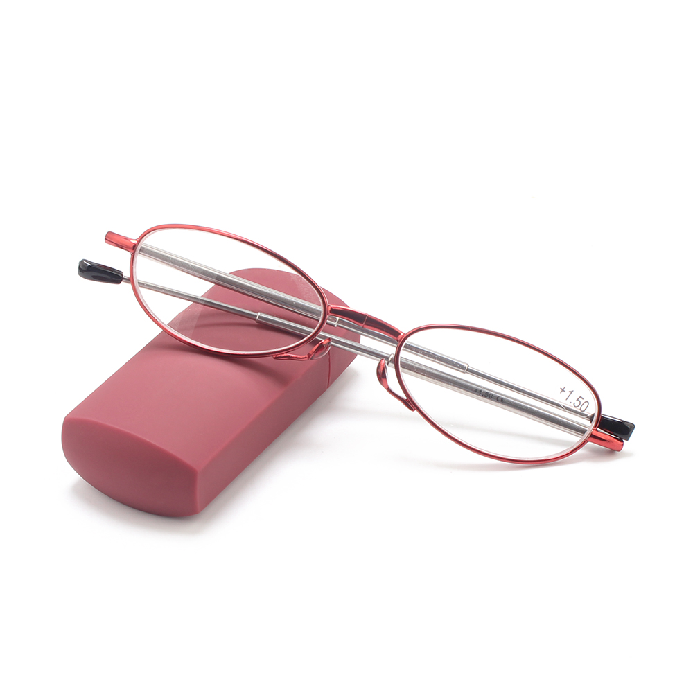 001 Mini folding pocket reading glasses with case