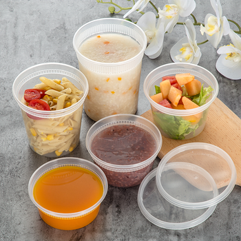 disposable plastic soup cups hot soup round container deli cups