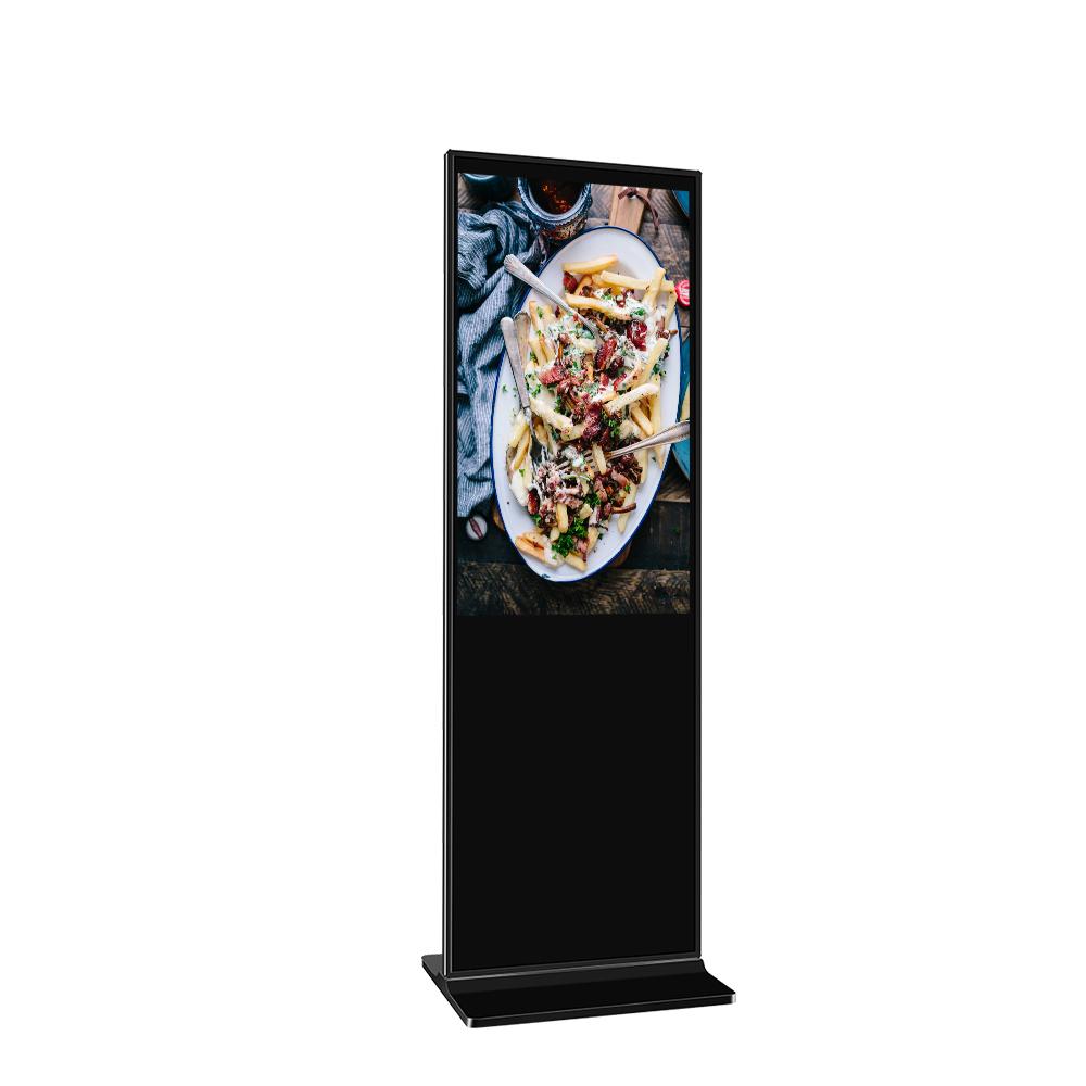 55 Inch Vloerstaande Ultradunne Led Digitale Android Interactief Touch Screen Kiosk