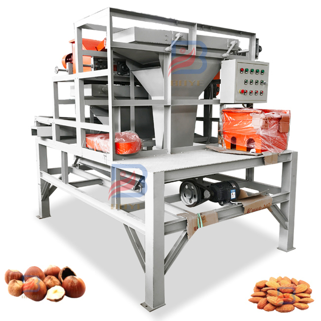 Automatic Small Nut Crusher Hazelnut Cracker Pistachio Breaking Processing Crushing Palm Huller Cracking Almond Shelling Machine