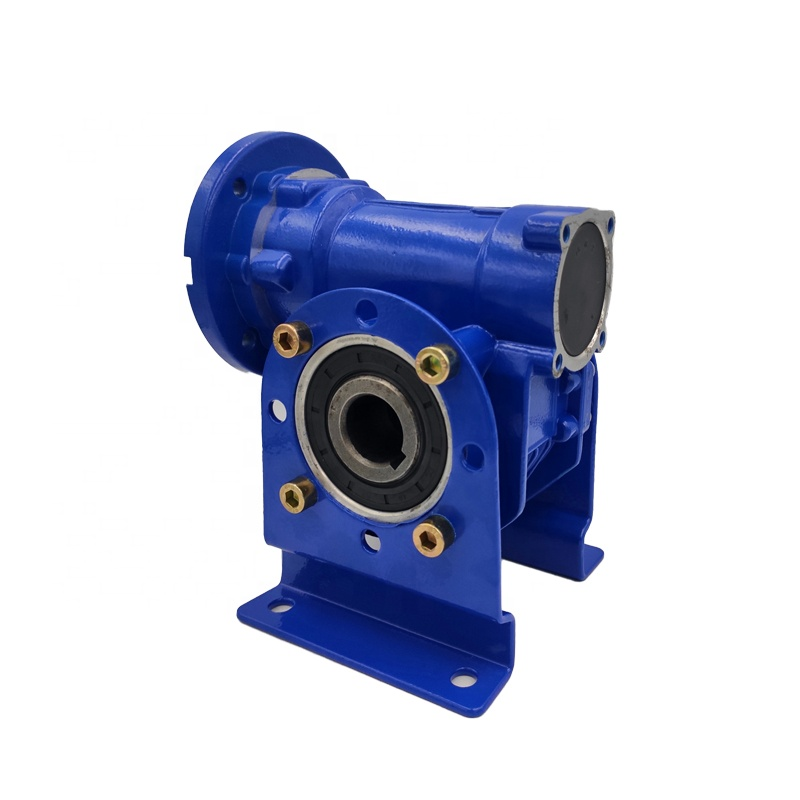 New Model Industrial Transmission Blue or Silver Worm Gear Box Small Speed Reducer Aluminum Gearbox